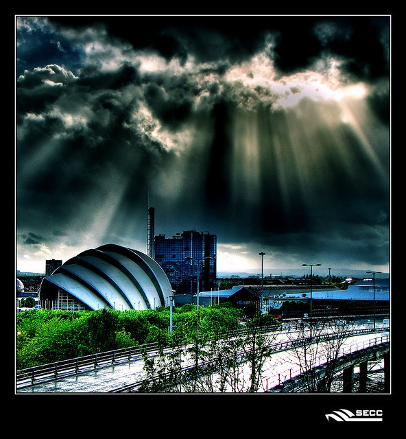 Glasgow Scotland...gasp...those clouds are stunning!