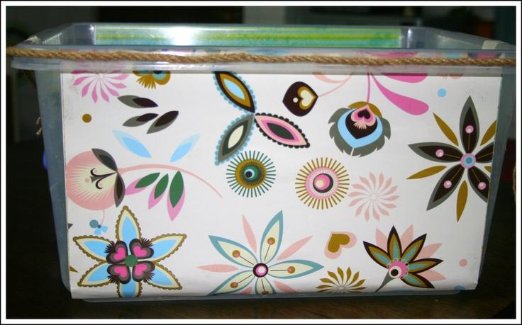 DIY Decorative Storage Bins | Inspired By Family Magazine