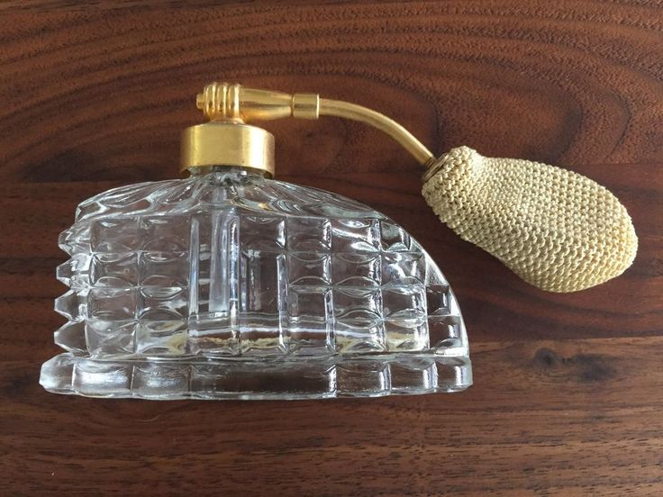 Very cool Art Deco Pressed Glass perfume bottle Atomizer. | eBay!