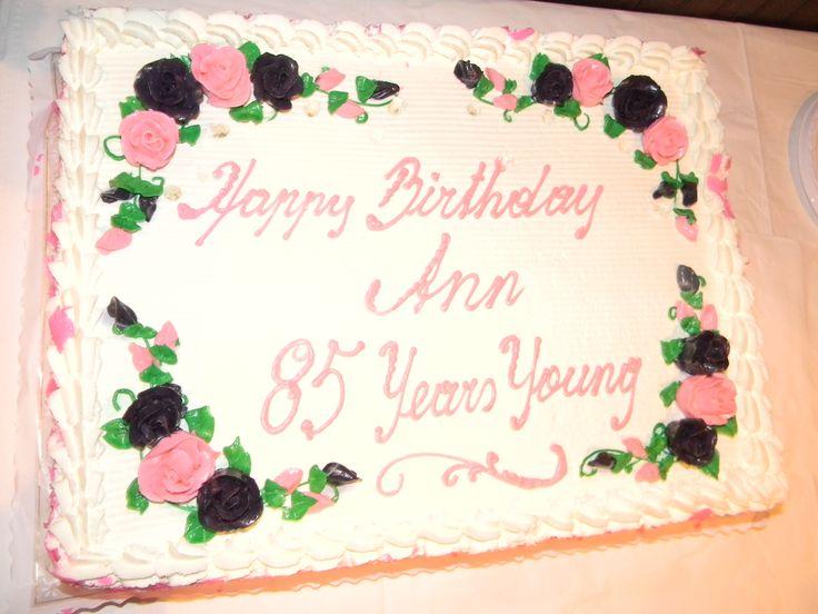 Birthday Cakes For Women Hundreds Fete Ann Hansen On Her 85th