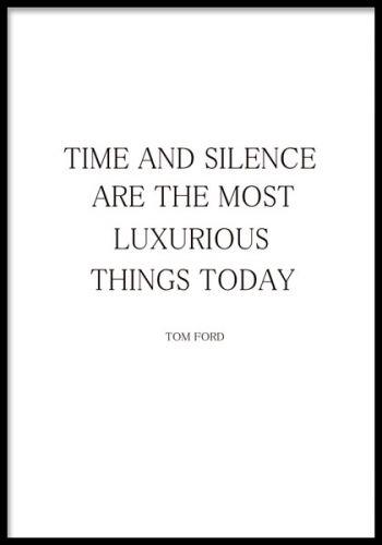 Trendig poster med Tom Ford citat.