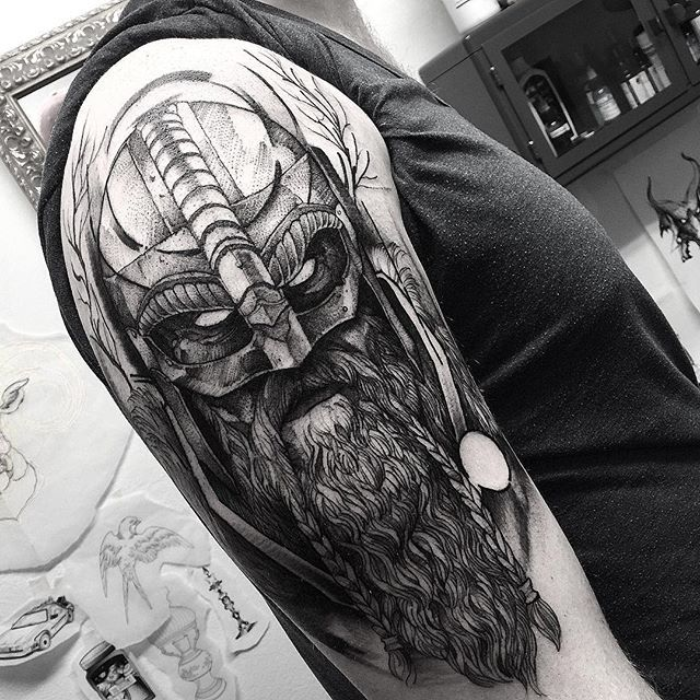 Viking! Thank you Nikolaj . @wickedworkshoptattoo #electricink