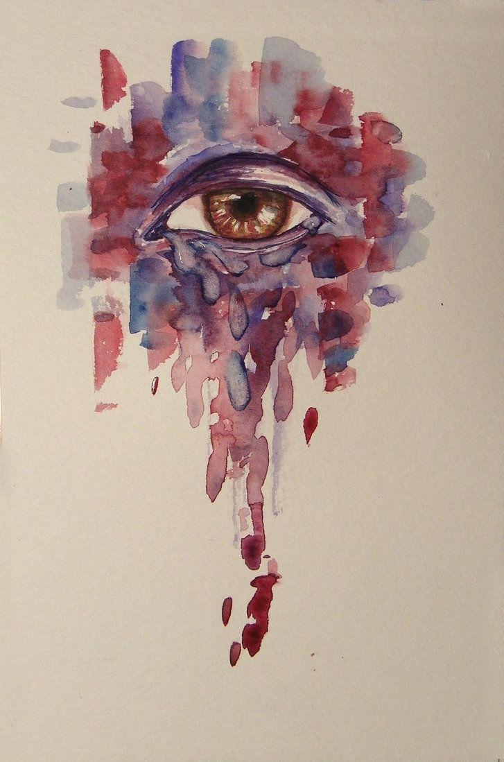 Watercolor eye by ~lolalolita3 on deviantART