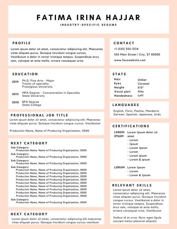 Resume Design Good Resume Examples Resume Resume Examples