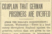 1918: German Prisoners Are Overfed Britons Say