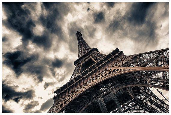 Paris Travel Photography, Tour De Eiffel, Eiffel Tower, Paris, France Metallic Photographic Print