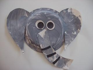 Paper Plate Elephant Craft |