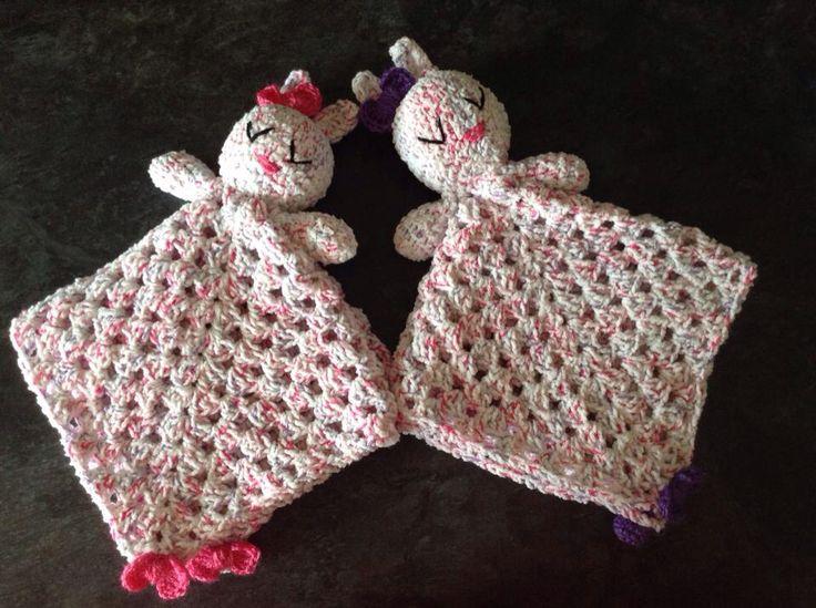 Crochet Bunny snuggle blankets