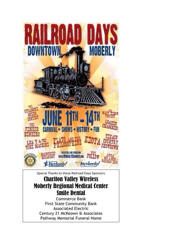 Moberly Railroad Days in downtown Moberly