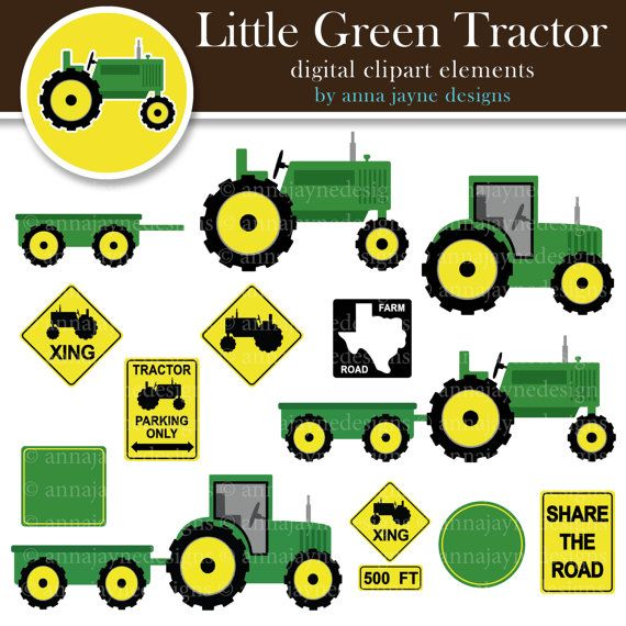 Green tractor clip art il for Tractor art projects