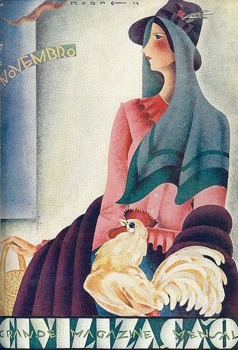 Roberto Nobre, (1903-1969), illustration for the magazine cover Civilization , Number 17, November 1929.