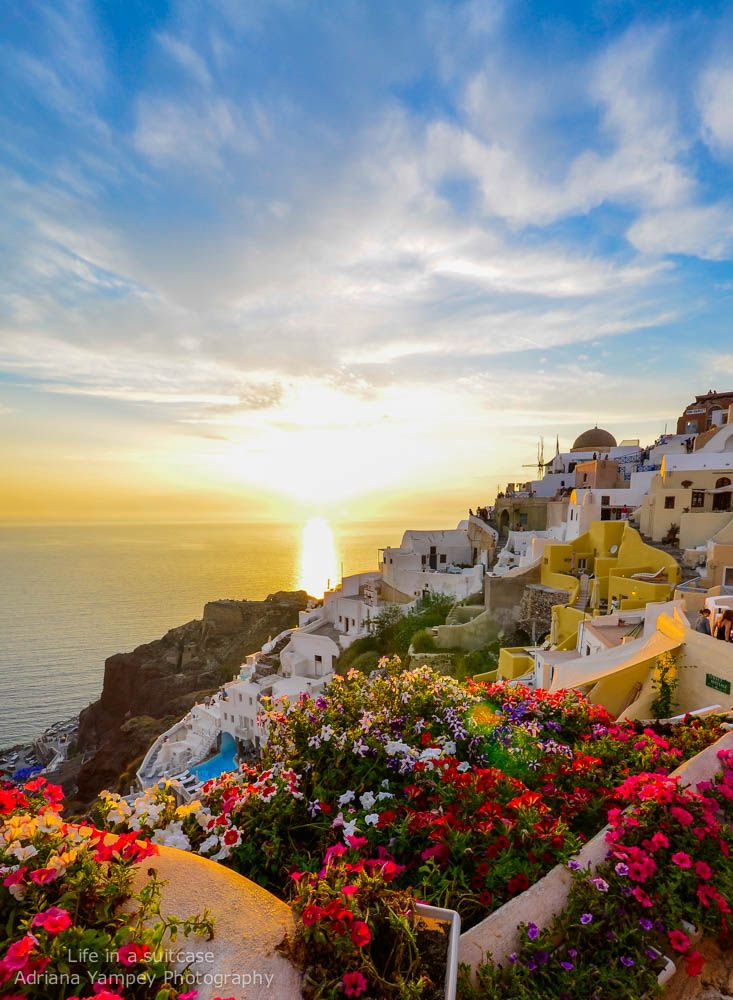 Sunset in Oia Greece- My hubby and I want to go here on our next Europe trip!