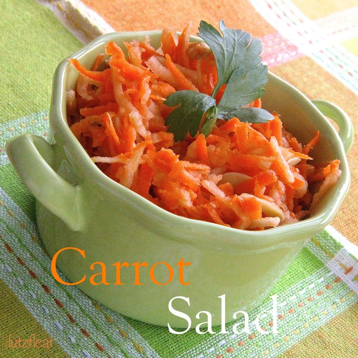 This Carrot Salad is shredded carrots and apples, slivered almonds ...
