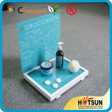 Elegant Desktop Acrylic Cosmetic Display With Wood base $3.32~$15.66
