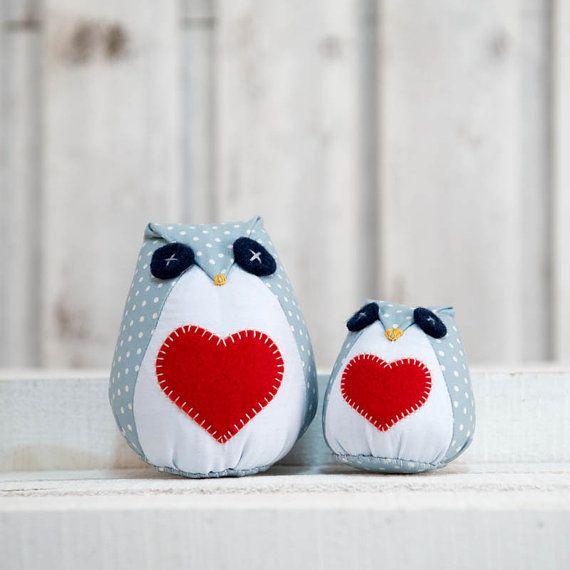 Gioco gufo con cuore,giocattolo per bambini, gufetto san valentino