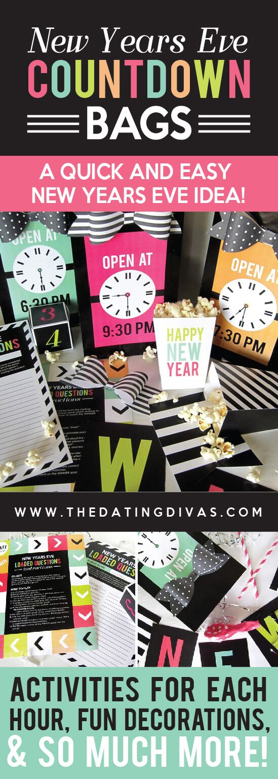 New Years Eve Countdown Bags by The Dating Divas