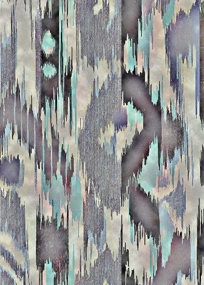 TEXTILES @Faith Martin Hudson lines: like ikat grey aqua teal turquoise