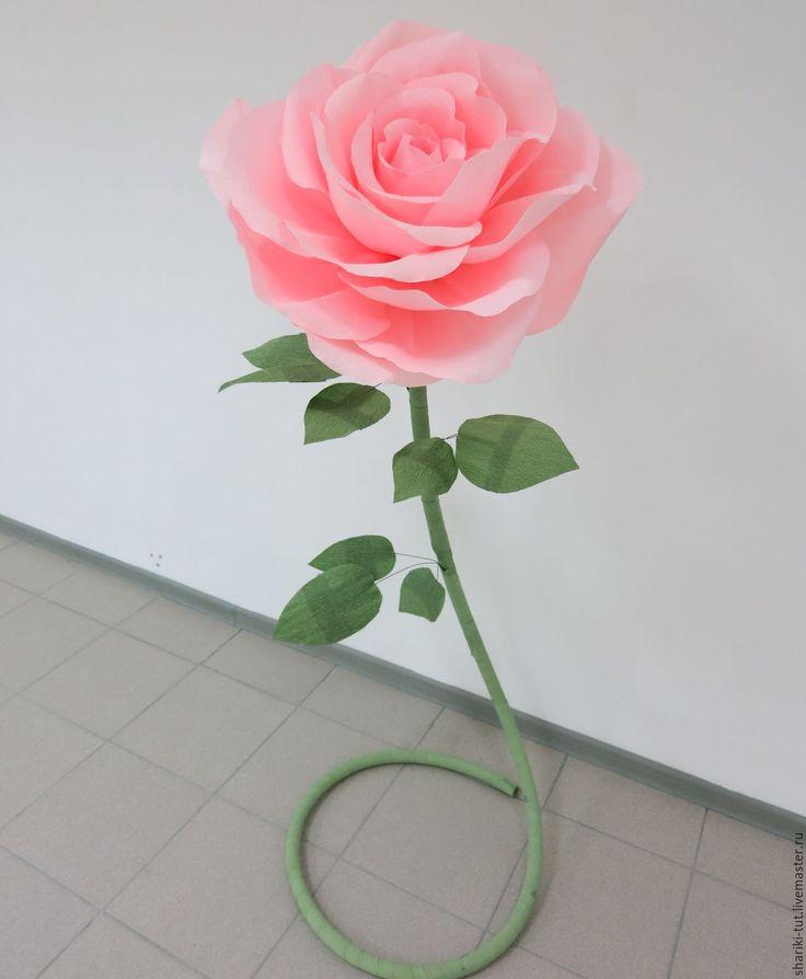 Купить Большая ростовая роза - розовый, роза, бумажный декор, фотозона, фотосессия, большие цветы