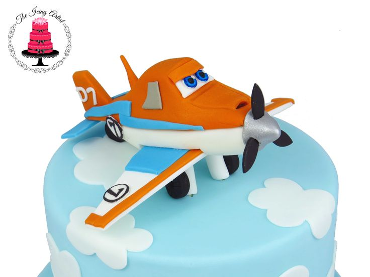 Planes 2 Dusty Cake Topper  - Planes 2 The Movie Dusty The Plane Cake topper!  Dusty is a gumpaste cake topper!  He is completely hand made.