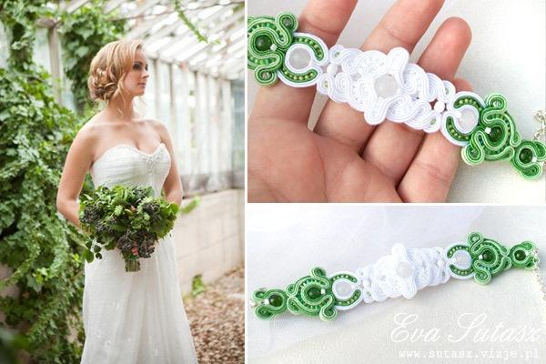 Niesamowita bransoletka ślubna <3