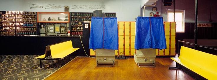 strange voting stations