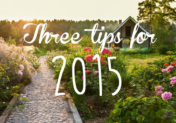 3 super simple tips to have your garden look on point in 2015. Really helpful for busy people!