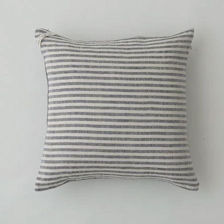cushion cover: navy stripe