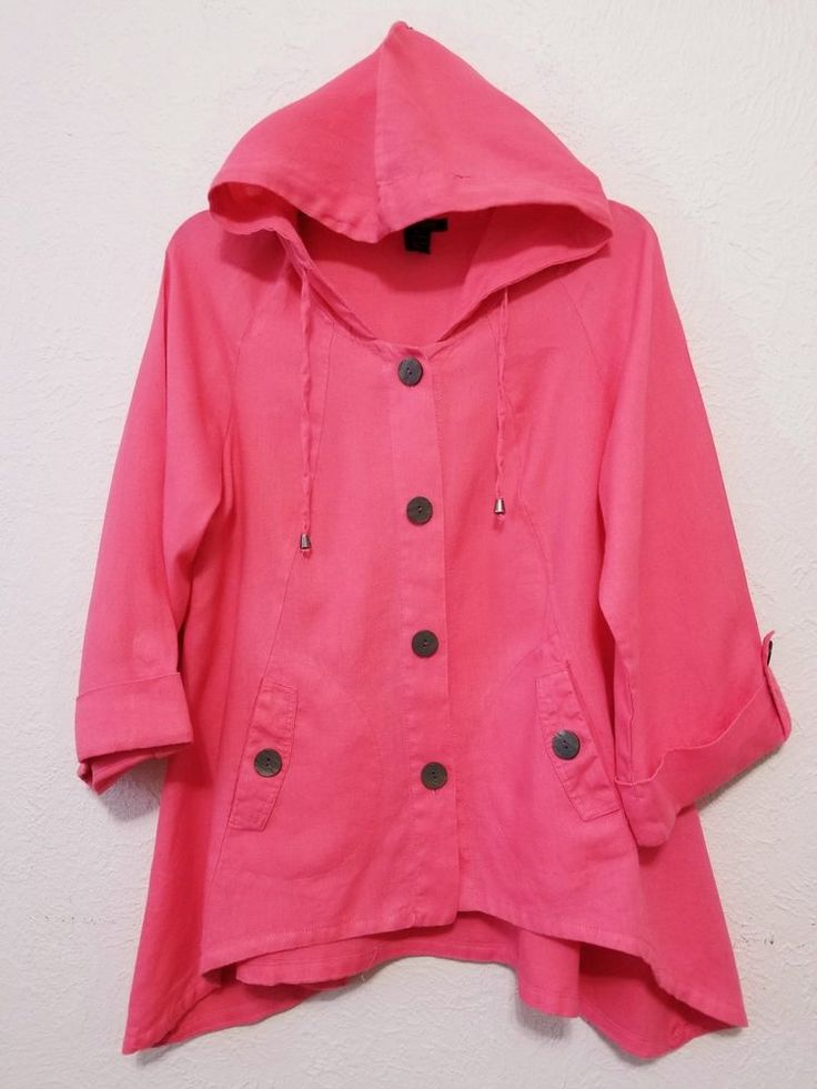 Luciano Dante - Women's Hooded Jacket - Size L - Pink/Orange Linen Blazer with Long Sleeve  #LucianoDante #LightWeightJacket ..... Visit all of our online locations.....  www.stores.eBay.com/variety-on-a-budget .....  www.stores.ebay.com/ourfamilygeneralstore .....  www.etsy.com/shop/VarietyonaBudget .....  www.bonanza.com/booths/VarietyonaBudget .....  www.facebook.com/VarietyonaBudgetOnlineShopping