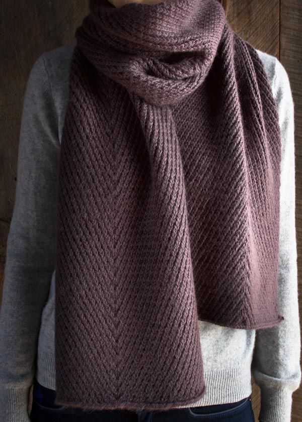 Diagonal Twist Scarf from Purl Soho | Twisted stitches | Free pattern