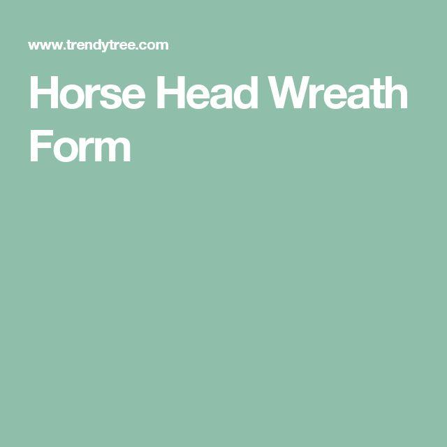 Horse Head Wreath Form