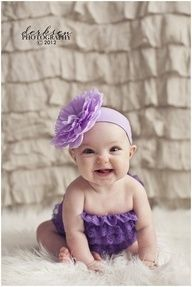 6 month baby picture idea with curtains as background