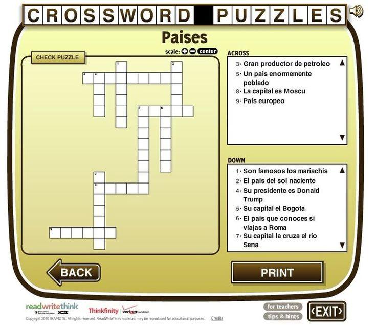 Crossword Puzzle es una página para crear crucigramas de forma rápida. Después los puedes resolver online o imprimirlos en papel.
