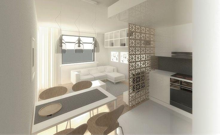 Aranżacje wnętrz. Salon z aneksem kuchennym na 18 m kw.; aranżacja wnętrza, architekt radzi, wnętrza, projekty, mieszkania; Wiadomości - Serwis DOM i NIERUCHOMOŚCI