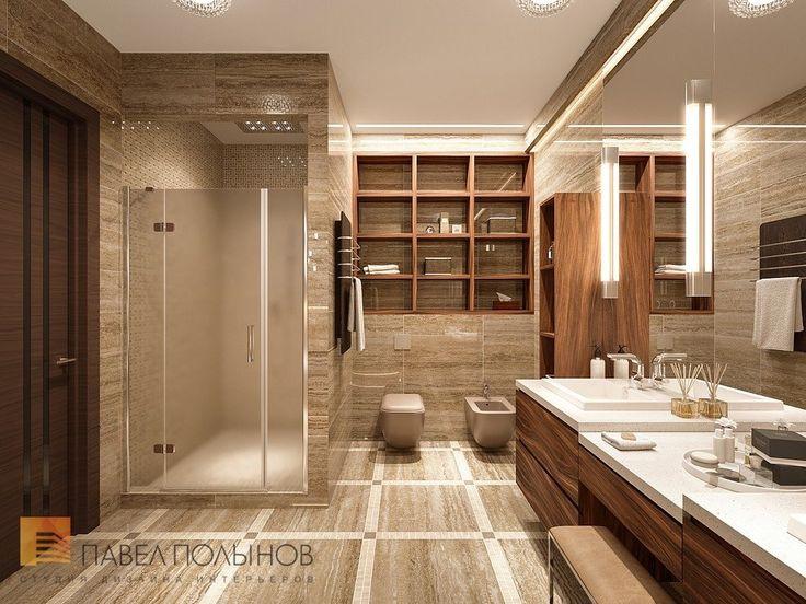 Фото дизайн ванной комнаты из проекта «Дизайн интерьера трехкомнатной квартиры 127 кв.м., ЖК «Парадный квартал», современный стиль»