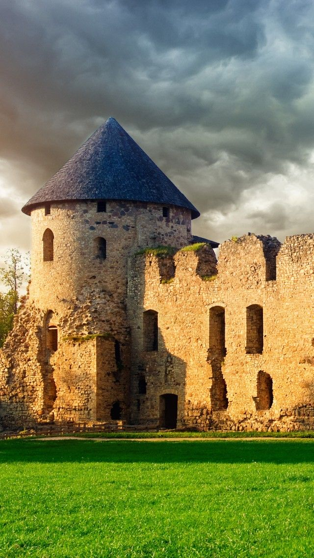Cēsis Castle, Latvia - Its ruins are some of the most majestic castle ruins in the Baltic states. Once the most important castle of the Livonian Order, it was the official residence for the masters of the order.