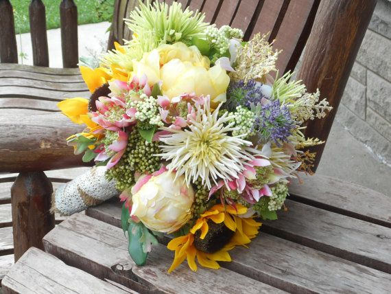 Hey, I found this really awesome Etsy listing at https://www.etsy.com/listing/199274732/sunflower-peonies-and-wildflowers-rustic
