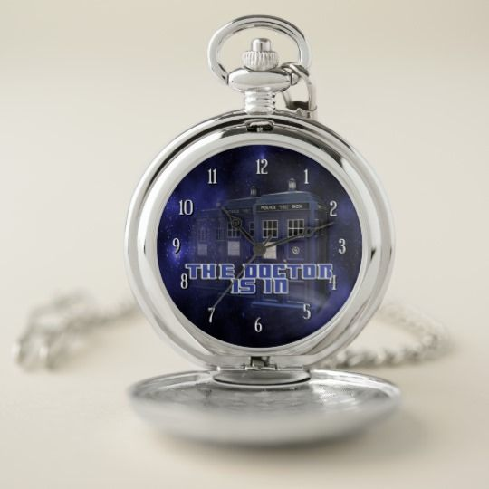 Police Call Box Pocket Watch