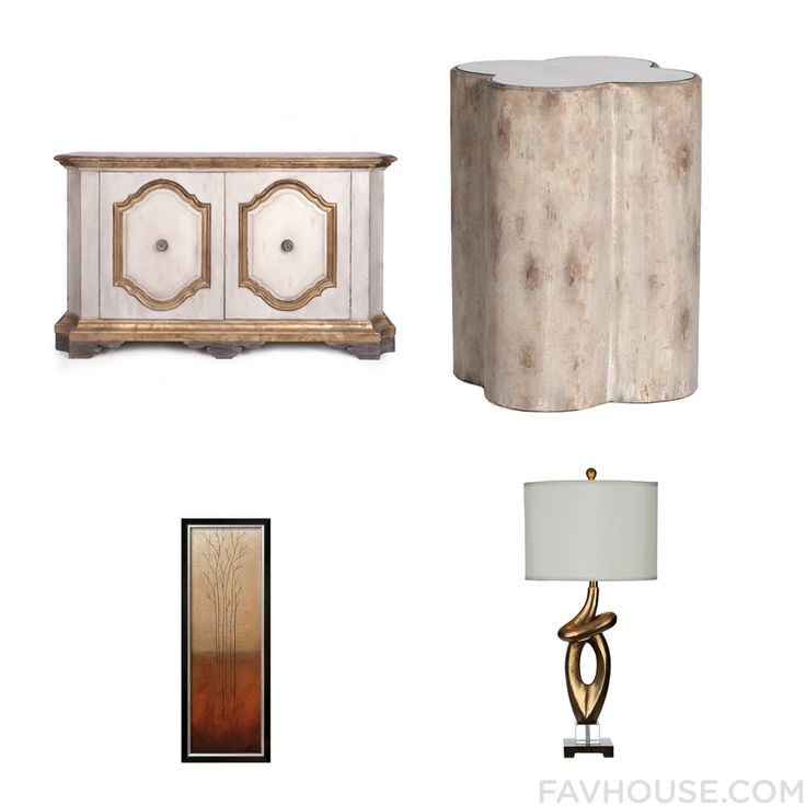 Room Collection Including Sideboard European Furniture Table Lamp And Framed Wall Art From January 2017 #home #decor