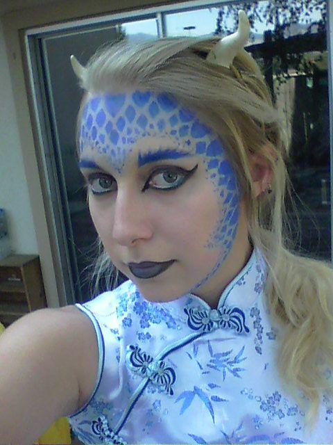 Blue Dragon Makeup By Willow Chan Hot Tips Kostum Verkleidung