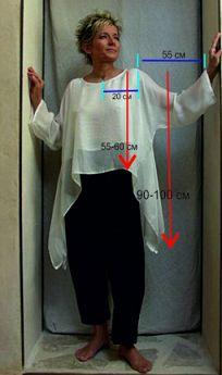 ВЫКРОЙКА ПЛАТЬЯ-МАКСИ ИЗ ЛЬНА Макси-платье с круглой, немного расширенной, горловиной, боковые швы в области низа скошены, что придает платью оригинальность.  Для моделирования нам понадобится выкро…