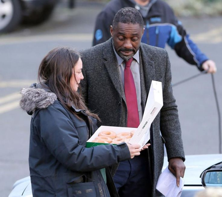 Idris Elba and Krispy Kremes!
