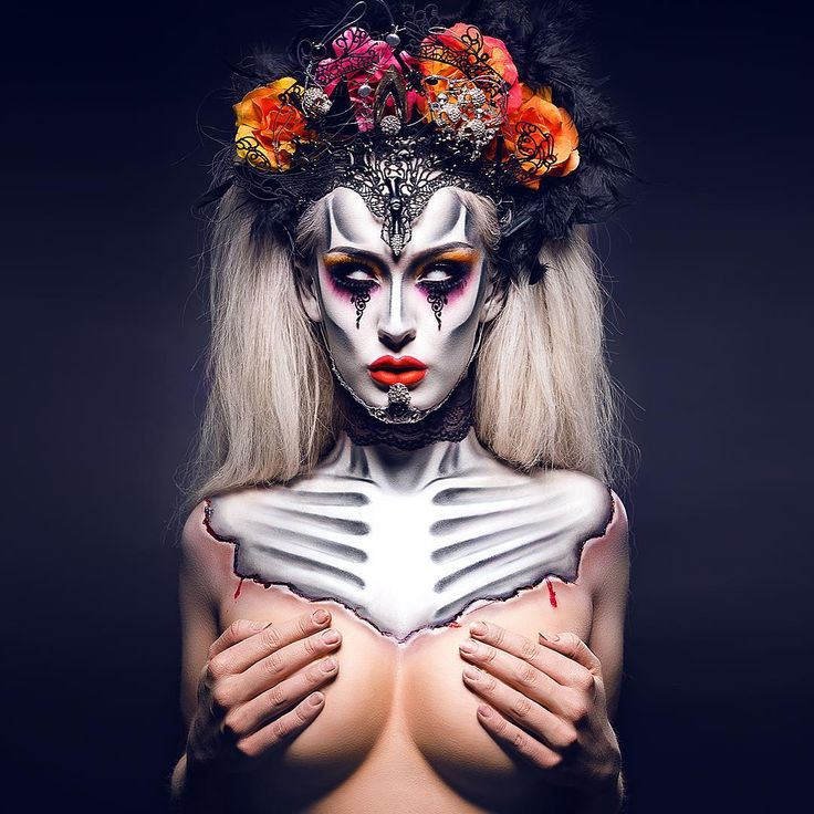 Thank you all SOOO much for the wishes and congrats in the last posts 💕💋 Here's the final winning look from the @nyxnordics Face Awards in all its glory! 😃 Tutorial link in profile!  More fun vids on the tube soon! 🎬  #nyxnordics #nyxfaceawards #dropdeadgorgeous #makeupartist #bodypainting @art_realisme #dayofthedead #nordicfaceawards #skull #headpiece #skeleton #diadelosmuertos #makeup #nyxnordicfinals #fingerscrossed #dayofthelivingdead @nyxnordics
