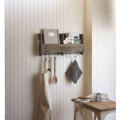 "Looks like Target has jumped on the pallet shelf bandwagon... So if you don't want to make your own, here you go!  ""Galvanized Shelf Set with S Hooks"""