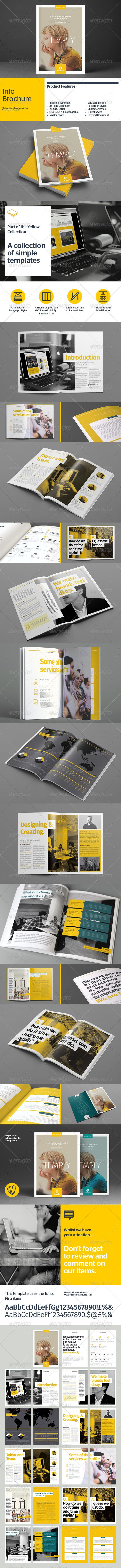 The InfoBrochure template is a brochure with space to give a little extra information about your company, some facts and figures and maybe some infographics too.