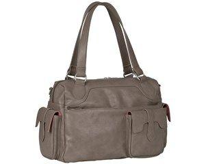 Lässig Wickeltasche Tender Shoulder Bag, Hazel - Handliche Wickeltasche mit raffinierten Außentaschen, geräumig mit unterschiedlichen Fächern. Inkl. Wickelunterlage, Kinderwagenbefestigung & höhenverstellbaren Schultergurt.