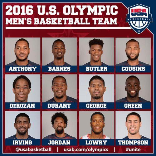 """Meet the 2016 U.S. Olympic Men's Basketball Team""Images Via:... on http://SneakersCartel.com   #sneakers #shoes #kicks #jordan #lebron #nba #nike #adidas #reebok #airjordan #sneakerhead #fashion #sneakerscartel http://www.sneakerscartel.com/meet-the-2016-u-s-olympic-mens-basketball-teamimages-via/"