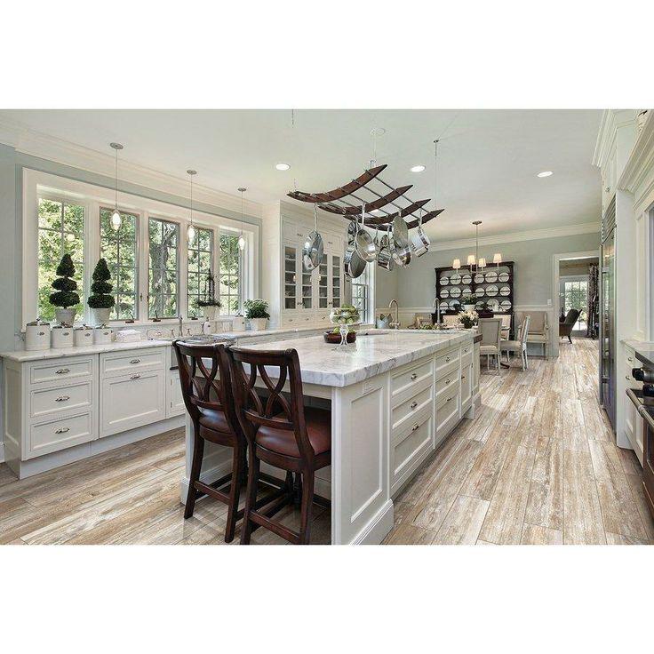 Whitewashed Plank Floors In White Kitchen: Best 75 Trendy Flooring Ideas On Pinterest