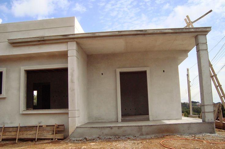 Detalhes no reboco que valoriza a fachada de casas for Fotos de casas modernas terreas