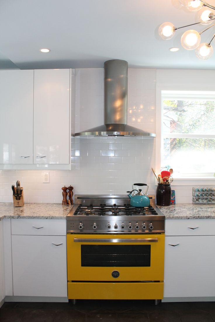 Bertazzoni Canary Yellow Stove Kitchen, Kitchen