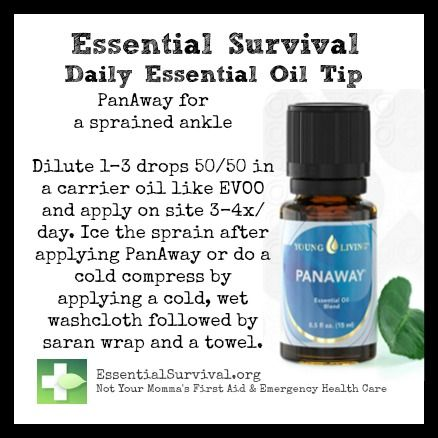 Use PanAway oil blend for a sprained ankle. www.fb.com/HealingLotusAromatherapy
